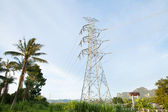 Telecommunications tower in a day of clear blue sky.Thailand — Stock Photo