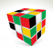 Vector 3d cubes - Stock Photo