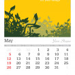 May 2013 A3 calendar - Stock Photo