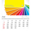 July 2013 A3 calendar - Stock Photo