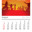 August 2013 A3 calendar - Stock Photo