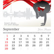 September 2013 A3 calendar - Stock Photo