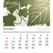 October 2013 A3 calendar - Stock Photo