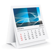 January 2013 A3 calendar — Stock Photo