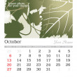 October 2013 A3 calendar — Stock Vector