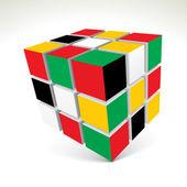 Vector 3d cubes — Stock Vector