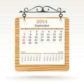 September 2014 - calendar — Stock Vector