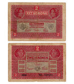 Vintage hungarian banknote from 1917 — Stock Photo