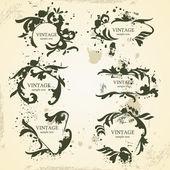 Frames do vintage — Vetor de Stock