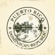 Grunge rubber stamp with Puerto Rico, Dominican Republic — Stock Vector