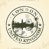 Grunge rubber stamp with London, United Kingdom — Vettoriale Stock