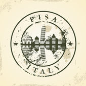 Grunge rubber stamp with Pisa, Italy — ストックベクタ