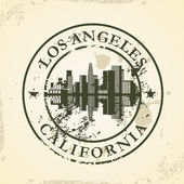 Grunge rubber stamp with Los Angeles, California — Stock Vector