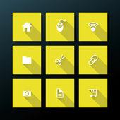 Vector flat web icon set — Stock Vector