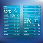 Weather widget app for mobile — Stock Vector