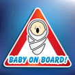 Stock Photo: Baby on board sticker