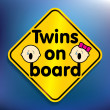 Stock Photo: Twins on board sticker