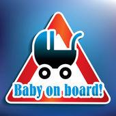 Baby on board sticker — Stock Photo