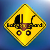 Baby on board sticker — Stock Vector