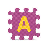 """Vector letter """"A"""" written with alphabet puzzle — Stock Vector"""