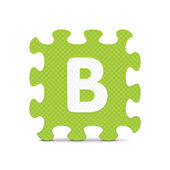 """Vector letter """"B"""" written with alphabet puzzle — Stock Vector"""
