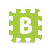 """Διανυσματικά γράμμα """"b"""" γραμμένο με αλφάβητο παζλ — Διανυσματικό Αρχείο"""