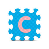"""Vector letter """"C"""" written with alphabet puzzle — Stock Vector"""