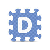 "Vector letter ""D"" written with alphabet puzzle — ストックベクタ"