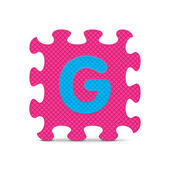 "Vector letter ""G"" written with alphabet puzzle — Stock vektor"