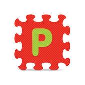 """""""bulmaca alfabesi ile yazılmış mektup p"""" vektör — Stok Vektör"""