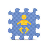 Vector baby sign made with alphabet puzzle — Stock Vector