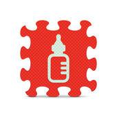 アルファベット ・ パズルで作られたベクトル ベビーサイン — ストックベクタ