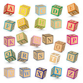 Vector alphabet blocks — Stok Vektör