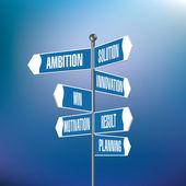 Signpost with motivational words — Stockvektor