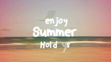 Enjoy summer holidays — Vídeo Stock
