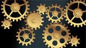 Vector machine gears — Stock Vector
