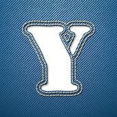деним джинсы букву y — Cтоковый вектор