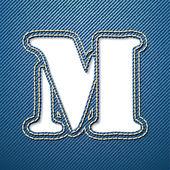 деним джинсы букву m — Cтоковый вектор