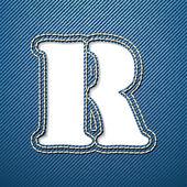 R письмо джинсы джинсовая — Cтоковый вектор