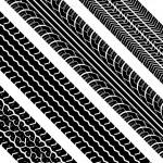 Tire tracks — Stock Vector #5291783