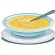 Bowl of soup - Stock Vector