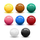 Snooker balls — Stock Vector