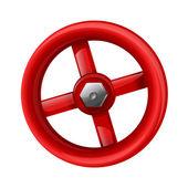 Červený ventil — Stock vektor
