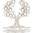 Vector graphic genealogical branchy tree — Stock Vector