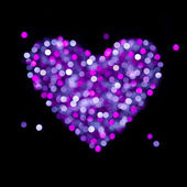 Shiny blurred heart - Valentines Day or Wedding card — Photo