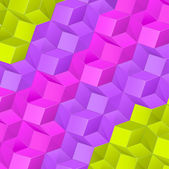 Abstract background with bright volume cubes — Wektor stockowy