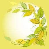 фон с листьями — Cтоковый вектор