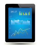 Gráfico de la tableta — Vector de stock