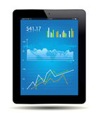 Gráfico de tablet — Vetorial Stock