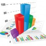 3D Bar Chart — Stock Vector